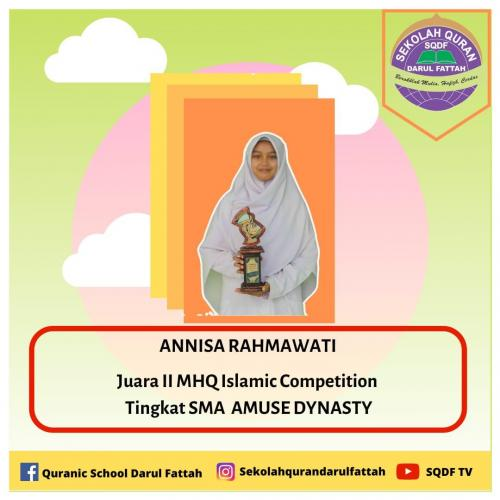Annisa Rahmawati MHQ Islamic Competition